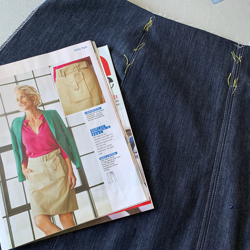Burda magazine pic denim skirt