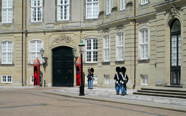Guards at Amalienborg Palace, Copenhagen