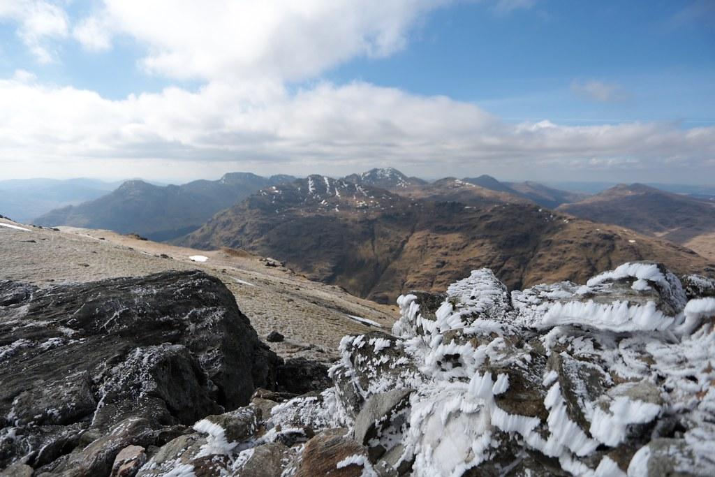 Arrochar Alps from the summit of Ben Vorlich