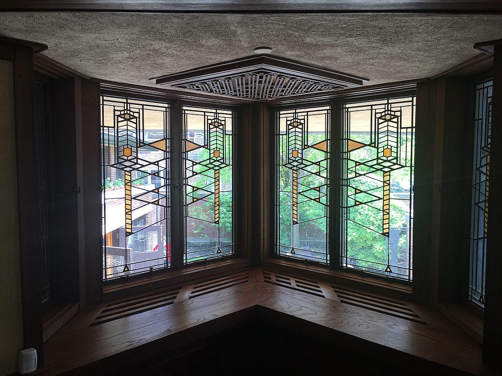 Robie House, Chicago, Illinois - designed by Frank Lloyd Wright