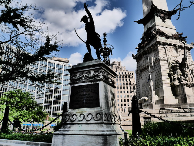 Downtown Indianapolis -  General Anthony Wayne Leads the Charge