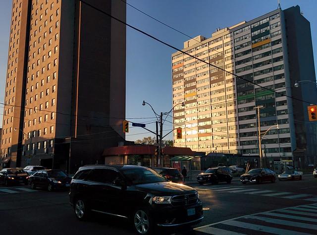 Twin towers #toronto #wallaceemerson #dupontstreet #lansdowneave #1011lansdowne #730stclarens #evening #skyline