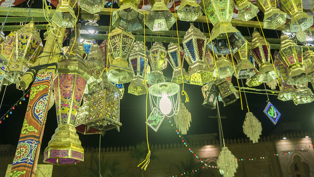 Ramadan lanterns in the market