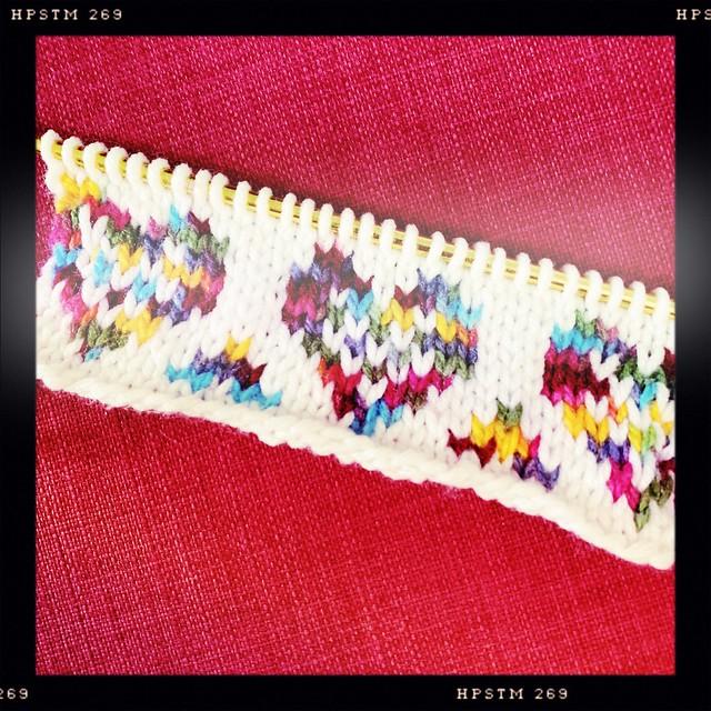 Heart Yarn Bomb WIP