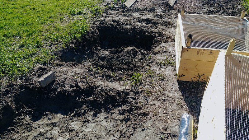 Raising the Raised Bed's Ditch a Bit with Yard Debris