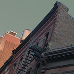 A17756 / obliquely in tribeca with celadon sky