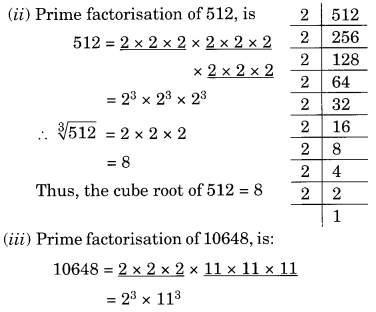 NCERT Solutions for Class 8 Maths Chapter 7 Cubes and Cube Roots Ex 7.2 Q1.1