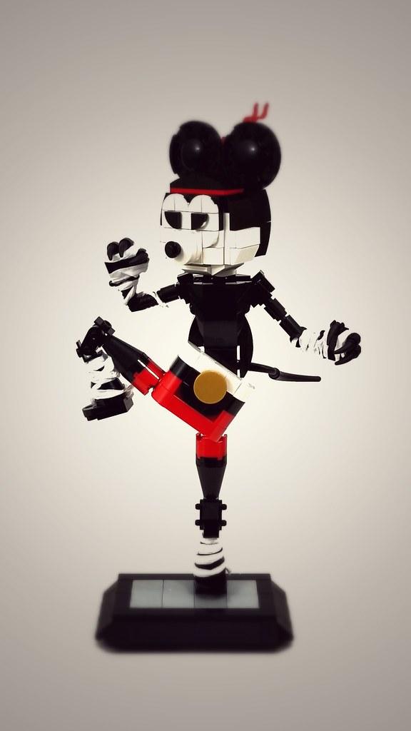 Muay Thai Mickey Fighter (custom built Lego model)