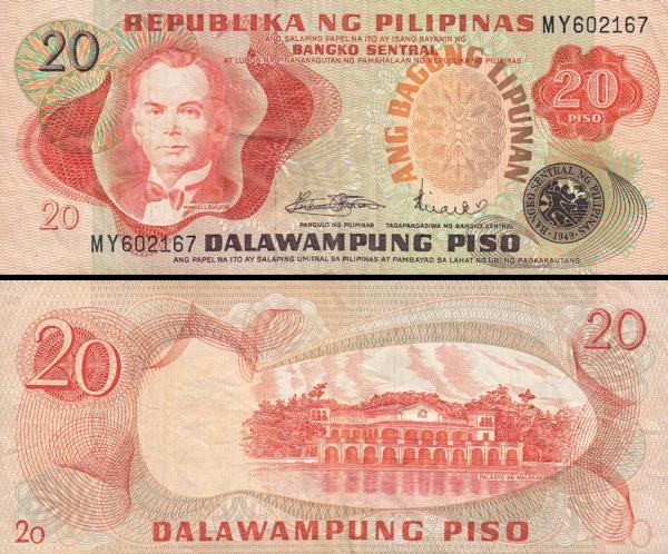 20 Piso Filipíny 1978, P162a