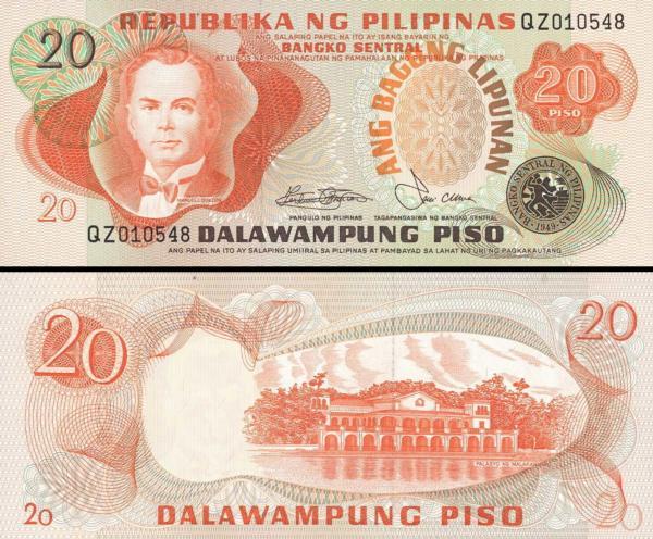 20 Piso Filipíny 1978, P162b
