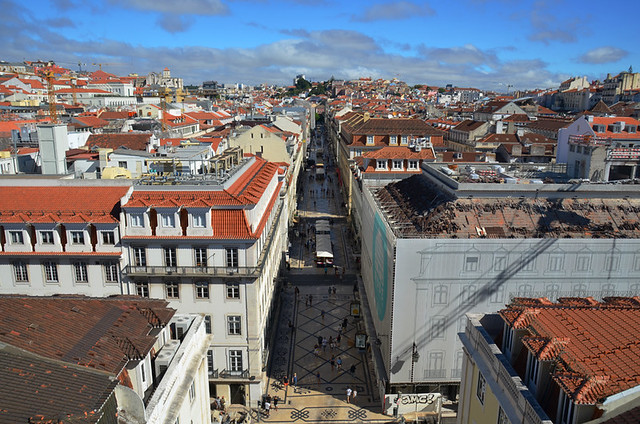 Looking across the centre of Lisbon.