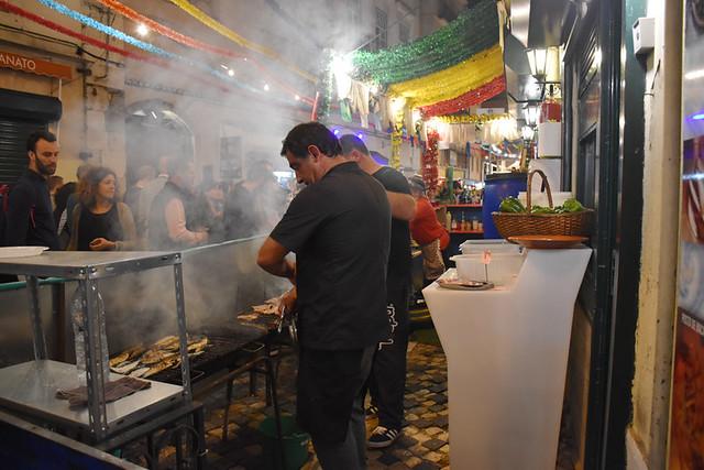Sardine stalls, Alfama, Lisbon