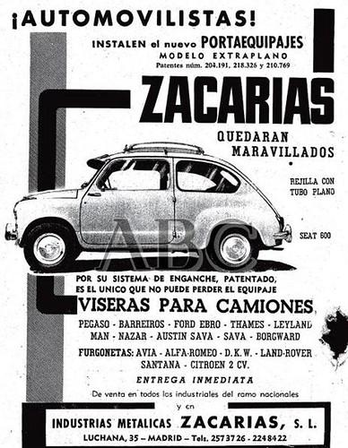 publicitat viseres per automobils i camions ABC 11 juliol 1962