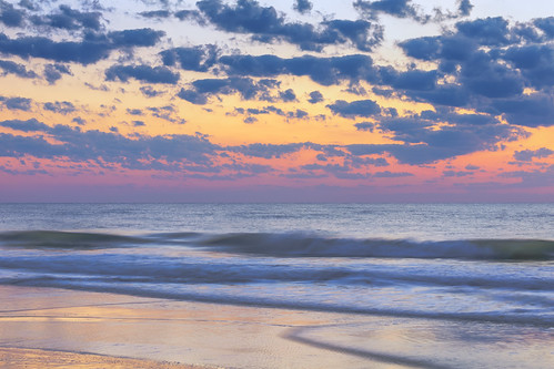 florida jacksonvillebeach sunrise beach clouds