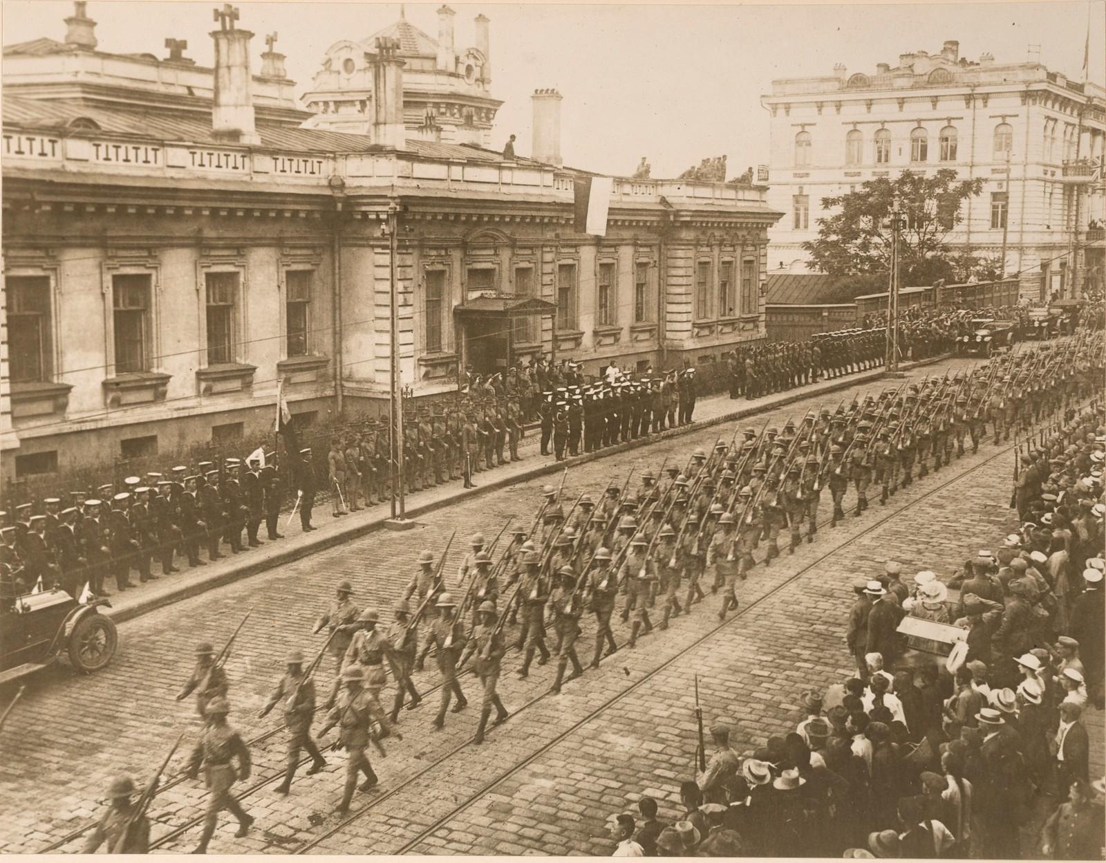 1918. Прибытие британских войск. 03.08