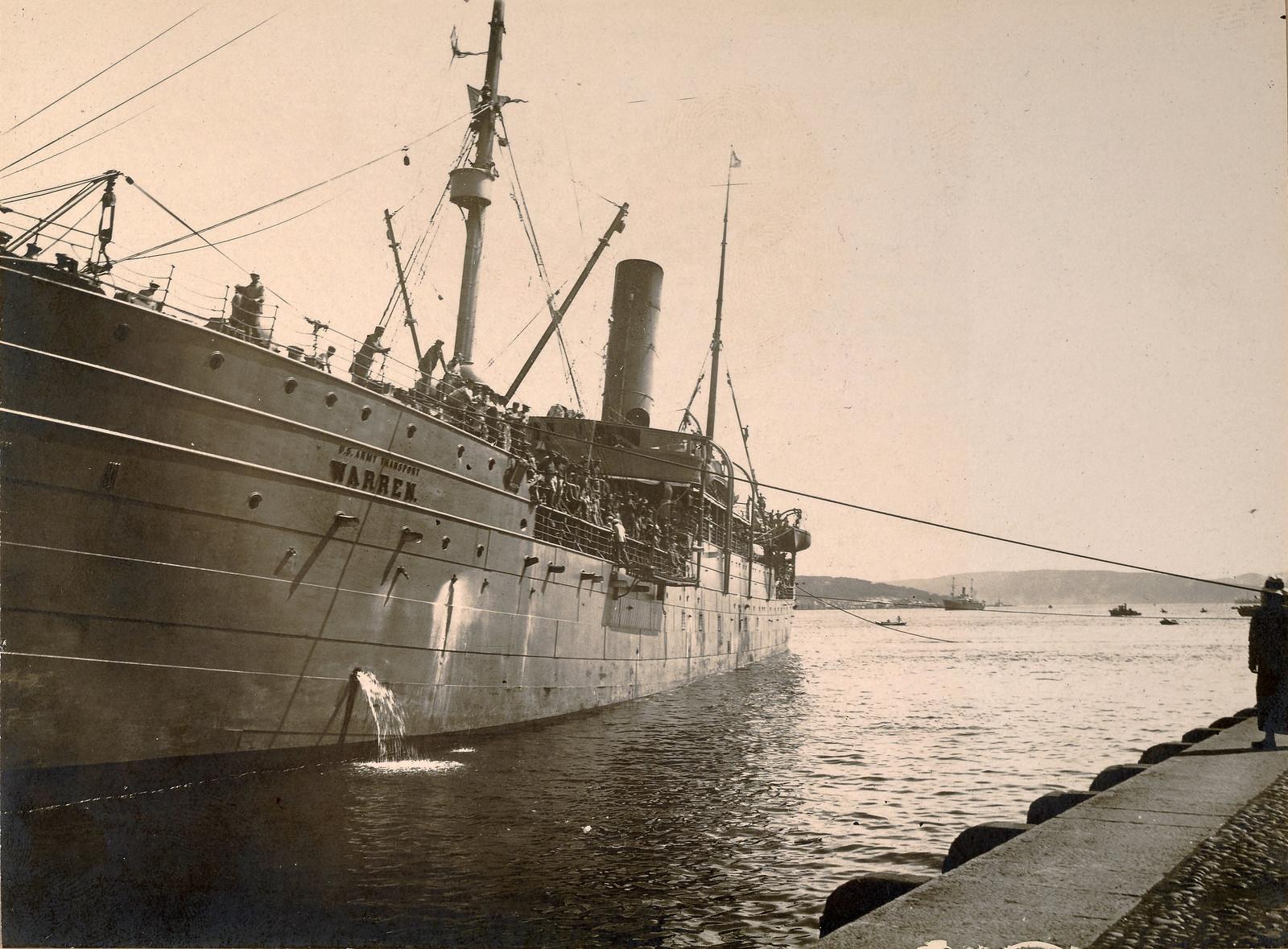 1918. Прибытие во Владивосток первого американского транспортного корабля U.S.A.T. «Warren». 11 августа