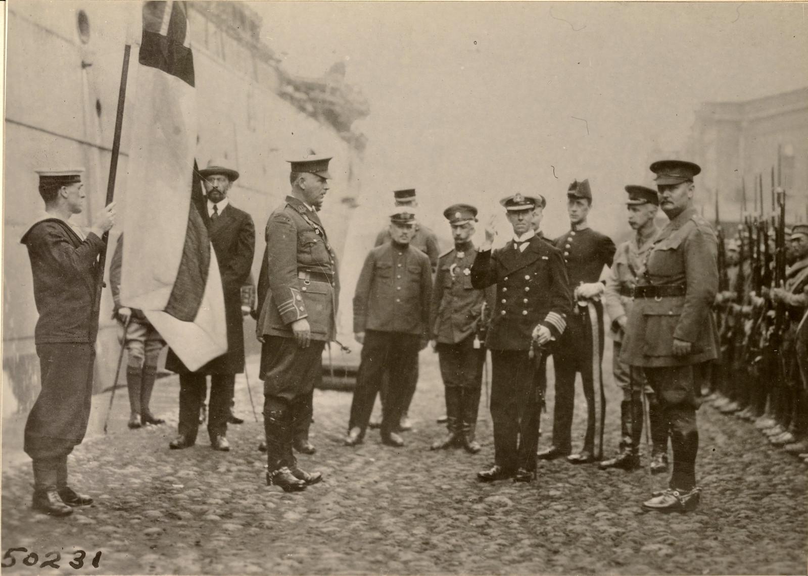 Встреча британских войск. 03.08