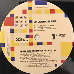 ATLANTIC STARR:ARMED AND DANGEROUS(LABEL SIDE-A)