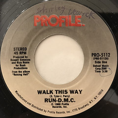 RUN D.M.C.:WALK THIS WAY(LABEL SIDE-A)