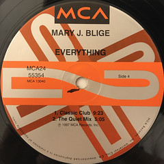 MARY J. BLIGE:EVERYTHING(LABEL SIDE-D)
