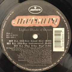 LIGHTER SHADE OF BROWN:HEY D.J.(LABEL SIDE-A)