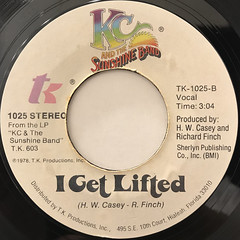 K.C. AND THE SUNSHINE BAND:BOOGIE SHOES(LABEL SIDE-B)