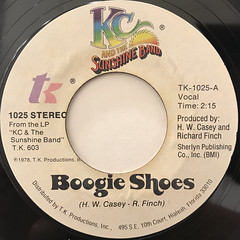 K.C. AND THE SUNSHINE BAND:BOOGIE SHOES(LABEL SIDE-A)