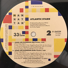 ATLANTIC STARR:ARMED AND DANGEROUS(LABEL SIDE-B)