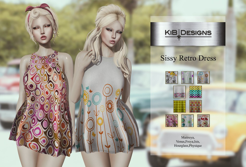 KiB Designs - Sissy Retro Dress @Vintage Fair 2019 - TeleportHub.com Live!