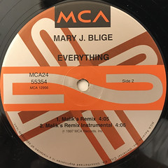 MARY J. BLIGE:EVERYTHING(LABEL SIDE-B)