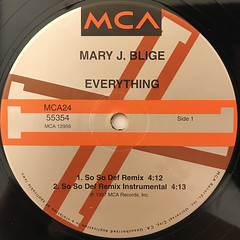 MARY J. BLIGE:EVERYTHING(LABEL SIDE-A)