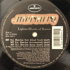 LIGHTER SHADE OF BROWN:HEY D.J.(LABEL SIDE-B)