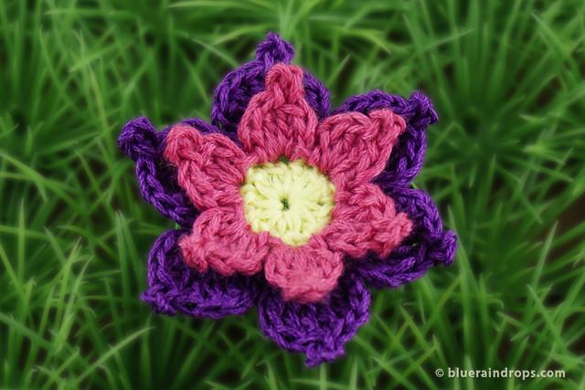 Crochet Cute Double Layered Flower