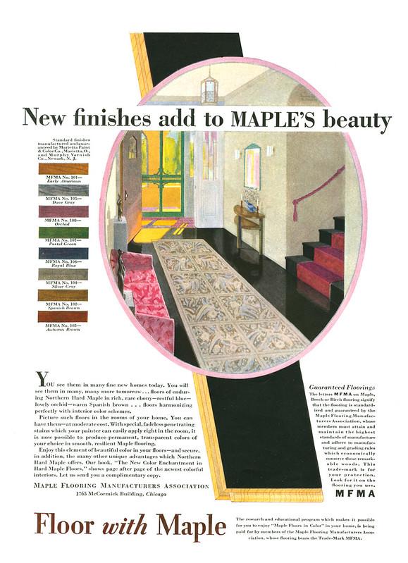 Maple Flooring Manufaturers Association 1929