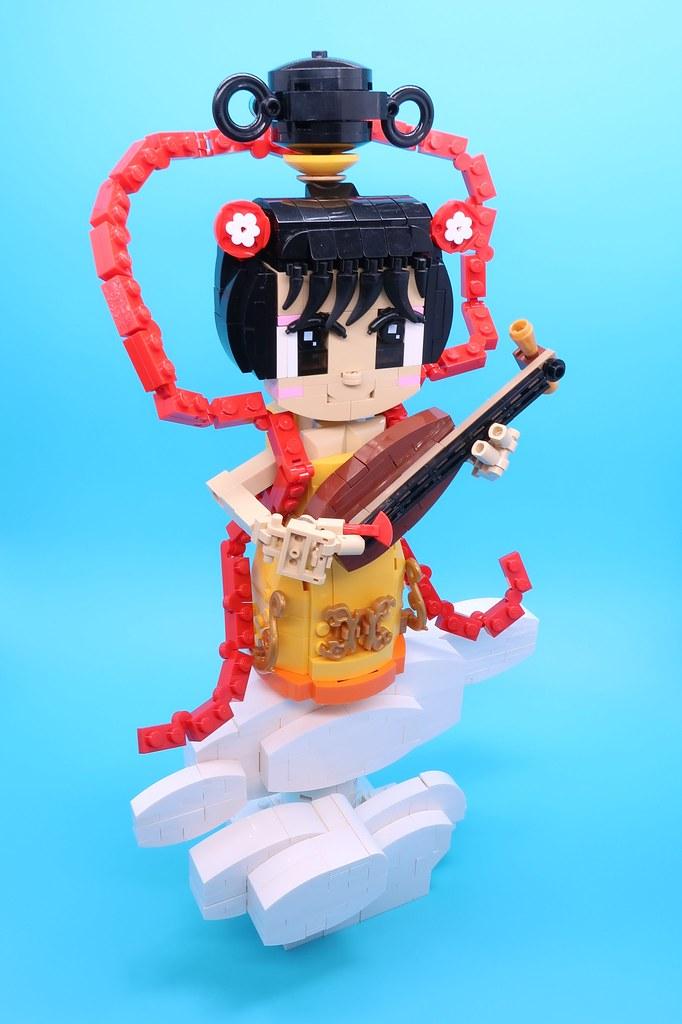 天女(日語:てんにょ) #legomoc #lego #legophotography #legocreation   #legobuilder #lego #Japanese #buddha #myth