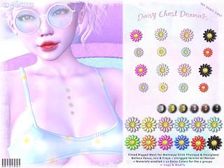 [ bubble ] Daisy Chest Dermals