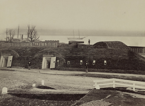 Battery Rodgers near Alexandria on the Potomac River between 1861 and 1865.