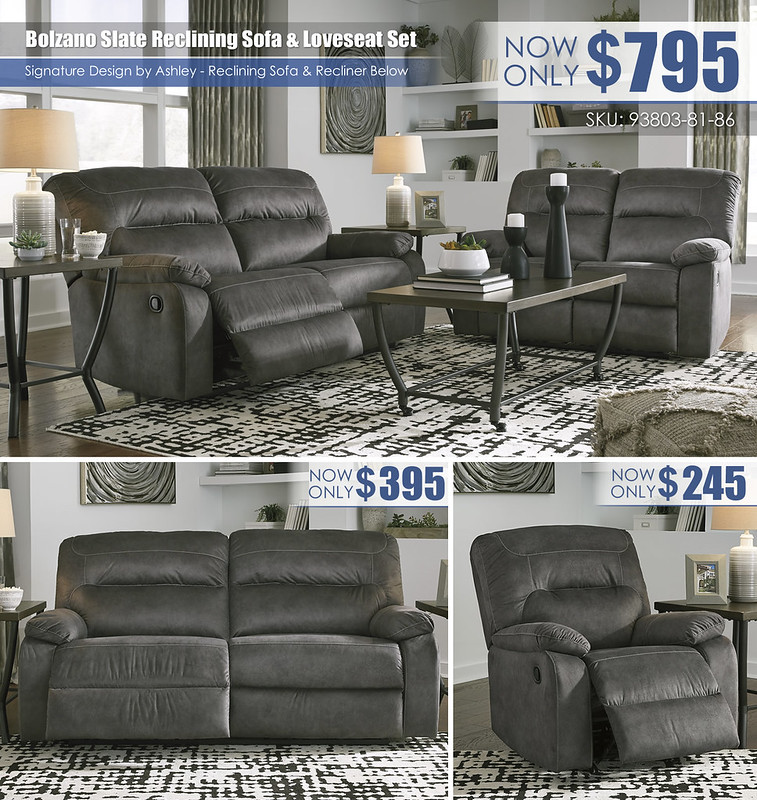 Bolzano Slate Reclining Sofa & Loveseat_Layout_93803-81-86