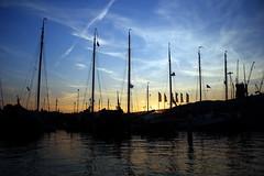 Couleurs de sunset sur les canaux sur Amsterdam