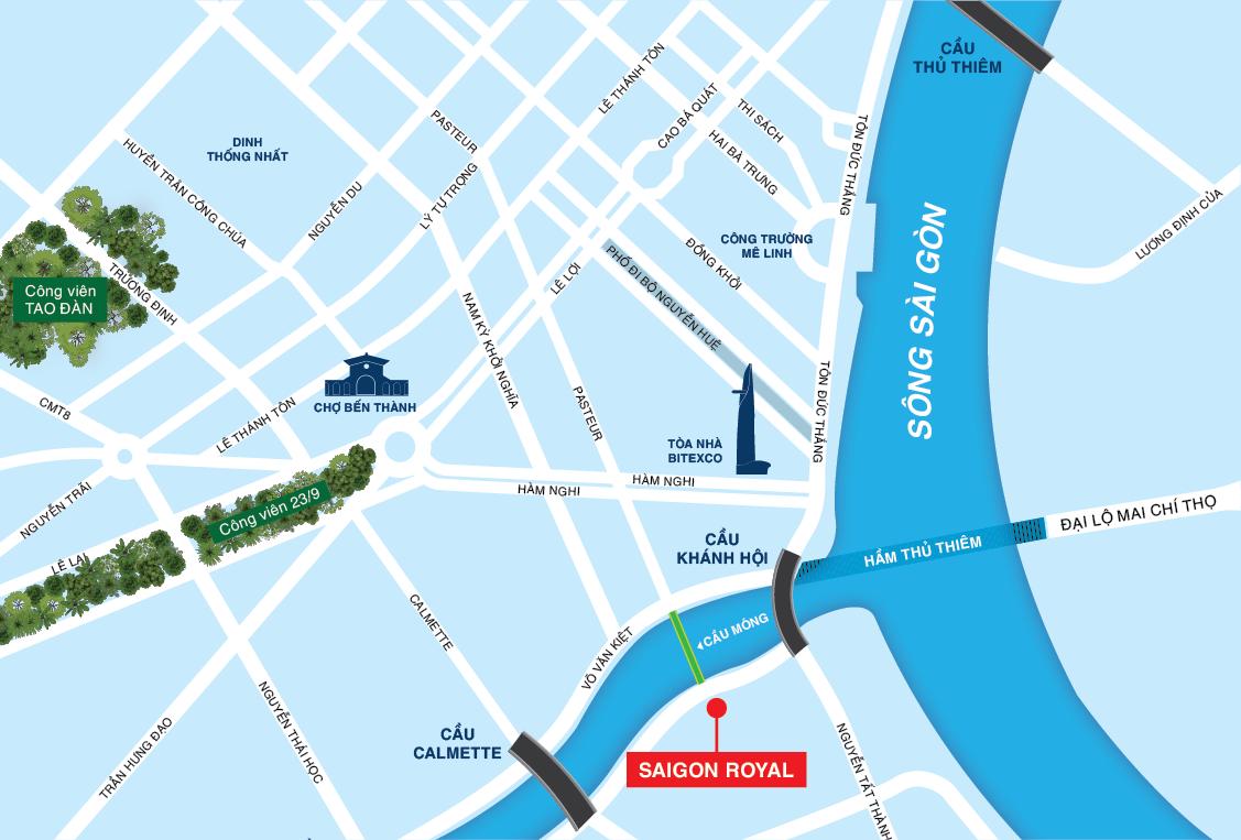 Vị trí dự án Saigon Royal Residence
