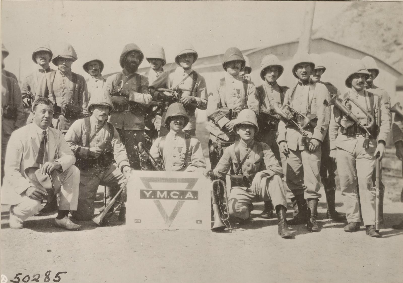 1918. Высадка французских войск. Французский военный оркестр