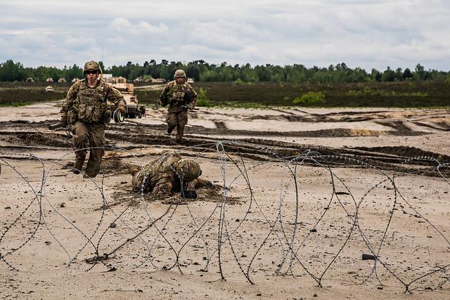 Breach training on a range near Camp Trezbien, Poland