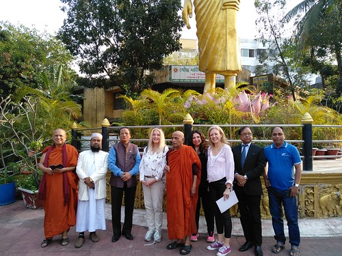 Venerable Suddhananda with Vassula and friends at the Buddhist Monastery