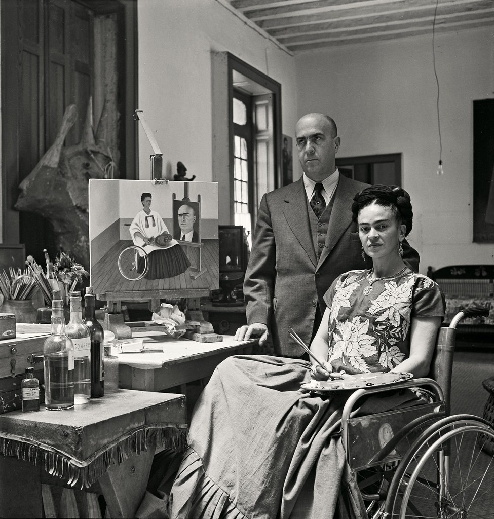 1951. Кало дома с доктором Хуаном Фариллом