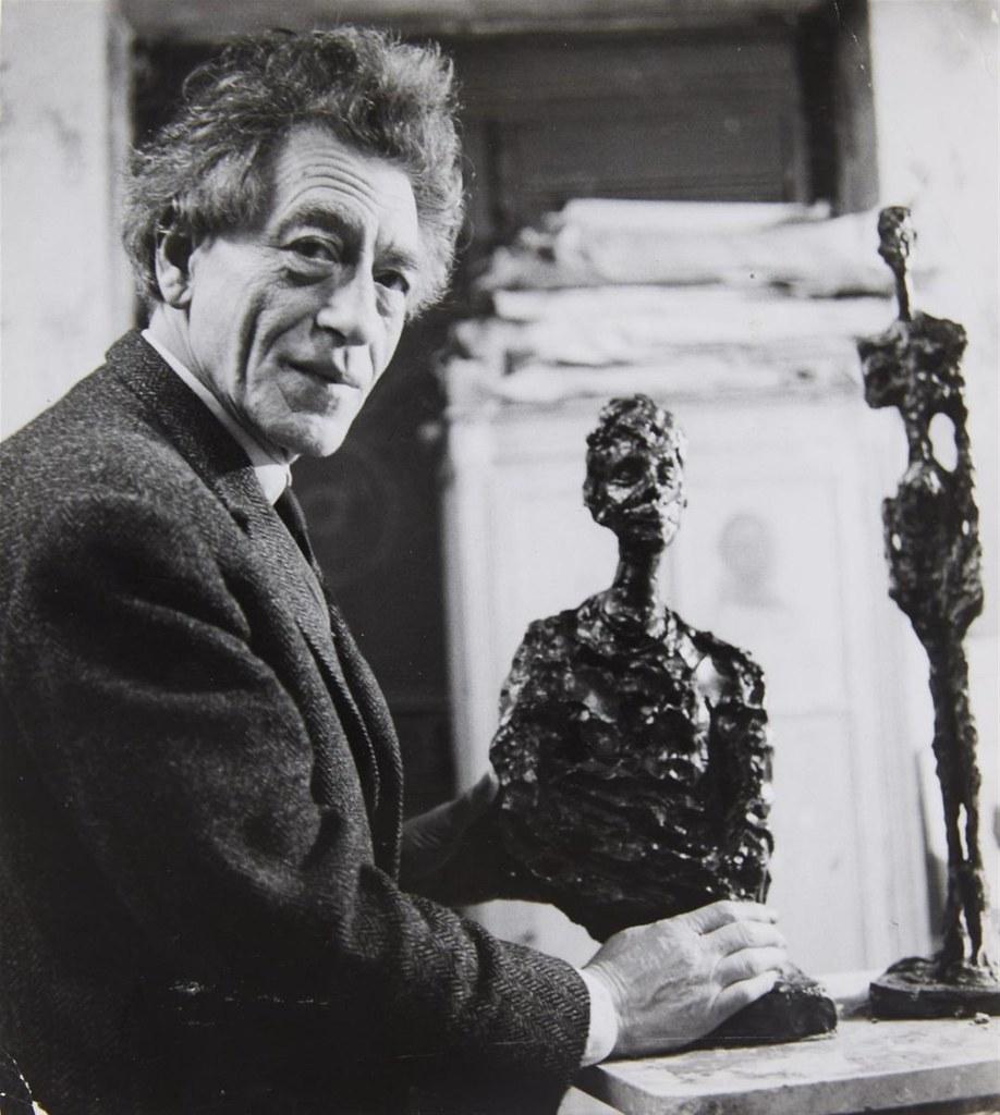 1964. Альберто Джакометти (швейцарский скульптор, живописец и график, один из крупнейших мастеров XX века)