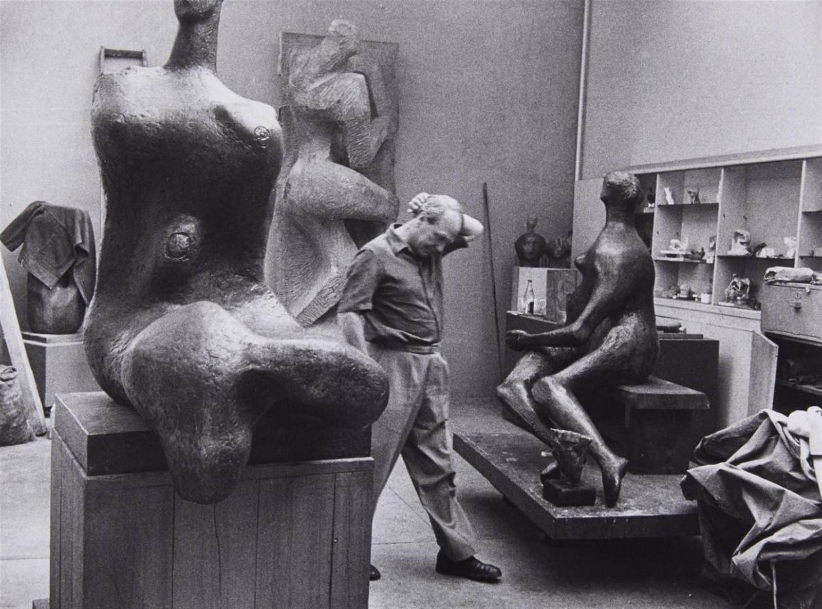 1959. Генри Мур ( британский художник и скульптор)