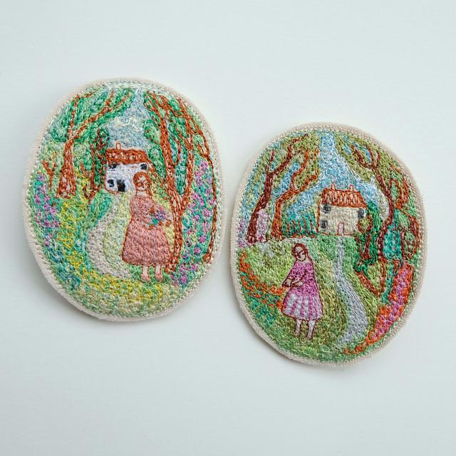 tiny landscapes in stitch