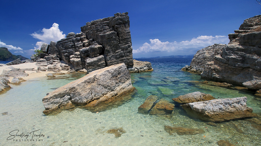 tilting rock cluster at Burobangkaso Island