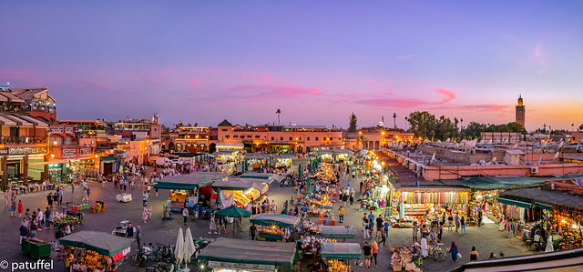 Djemaa el-Fnaa during sunset - Marrakesh