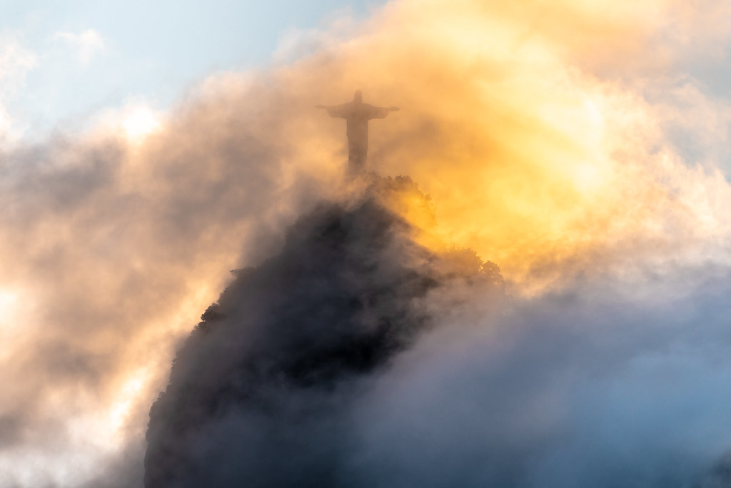 Sunset at Christ the Redeemer